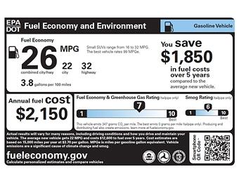 В США утвердили новые классы экономичности автомобилей