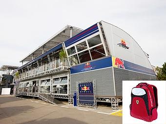 Рюкзак Ferrari в моторхоуме Red Bull приняли за бомбу