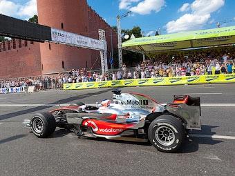 Шоу-заезды болидов Формулы-1 в Москве пройдут по новому маршруту