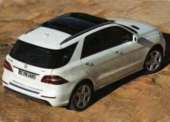 Появились изображения нового Mercedes-Benz M-Class