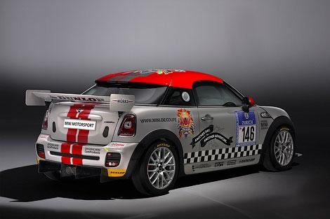 """Компания MINI представила гонончый вариант нового купе, которое примет участие в """"24 часах Нюрбургринга"""""""