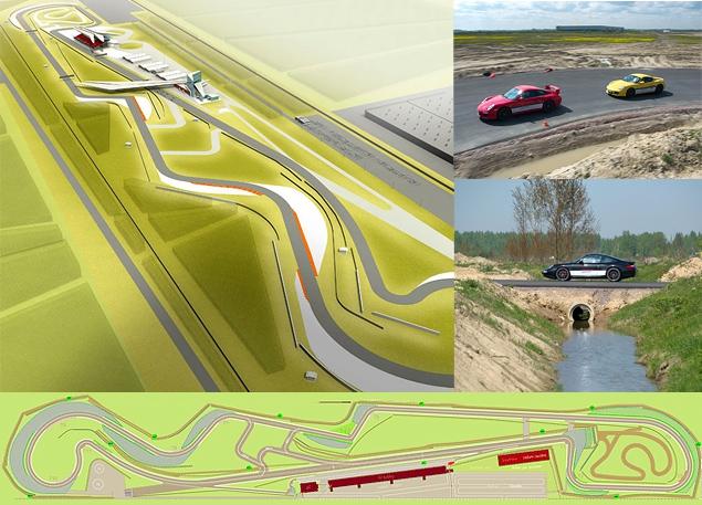 Ездим на Porsche по недостроенной трассе в Шушарах. Фото 1