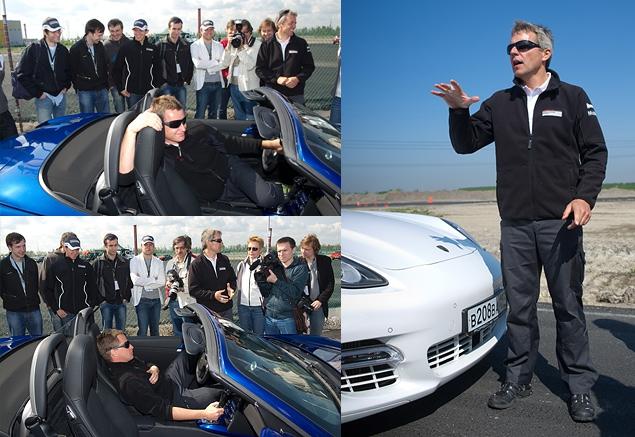 Ездим на Porsche по недостроенной трассе в Шушарах. Фото 2