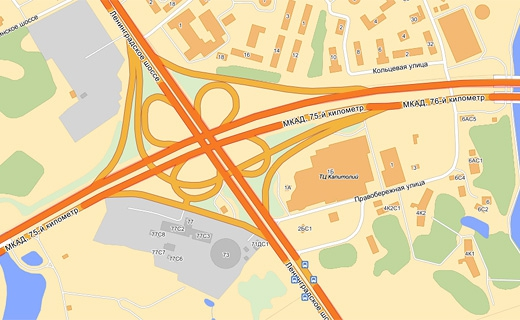 Опубликован список самых аварийных перекрестков Москвы