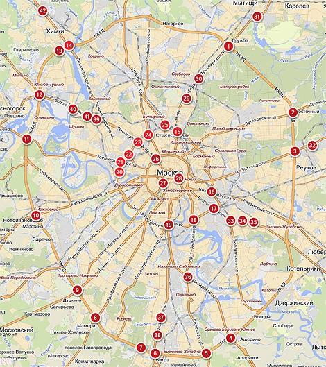 """Компания """"Яндекс"""" подготовила исследование о наиболее опасных участках московских дорог"""