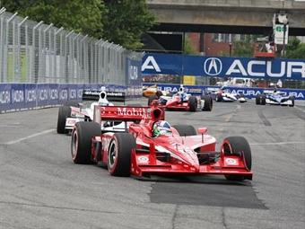Столкновение позволило Франкитти выиграть гонку INDYCAR в Торонто