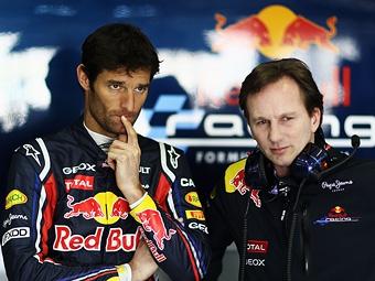 Команду Red Bull удивило неподчинение Уэббера приказам