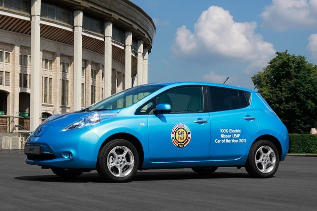 "В ""Лужниках"" прошла презентация электрокара Nissan Leaf"