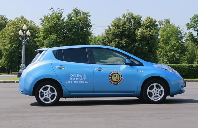 "В ""Лужниках"" прошла презентация электрокара Nissan Leaf. Фото 2"