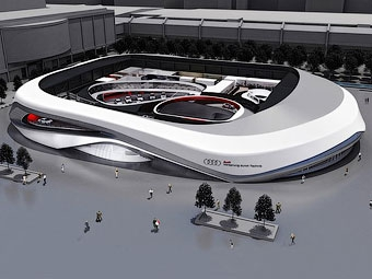 Audi построит на моторшоу во Франкфурте павильон с тестовым треком