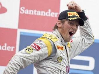 Гросжан опередил Бьянки в споре за победу в гонке GP2 в Германии