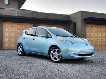 Электрокар Nissan Leaf получил за безопаснность высший балл NHTSA
