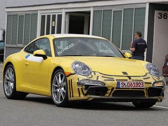 Появились новые снимки Porsche 911 следующего поколения