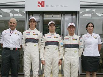 Команда Sauber продлила контракты с действующими гонщиками
