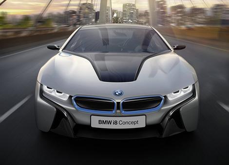 Компания BMW официально представила прототип гибридного спорткара i8. Фото 1