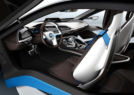 Компания BMW официально представила прототип гибридного спорткара i8. Фото 3