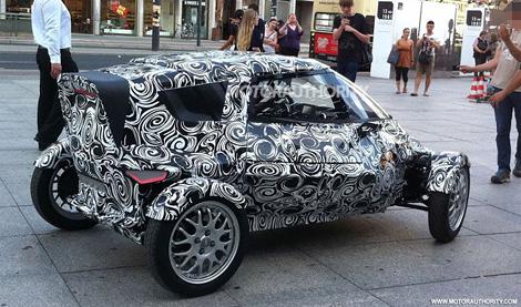 Появились фотографии необычного двухместного концепт-кара Audi