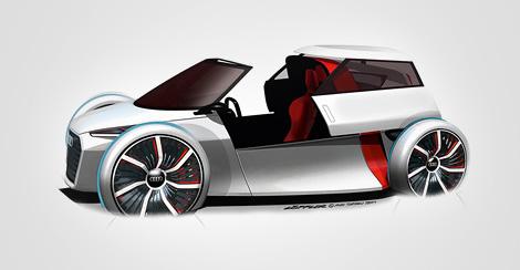 Опубликованы изображения двухместного компакт-кара Audi