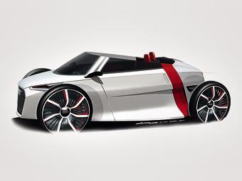Компания Audi представила электрический спайдер для города