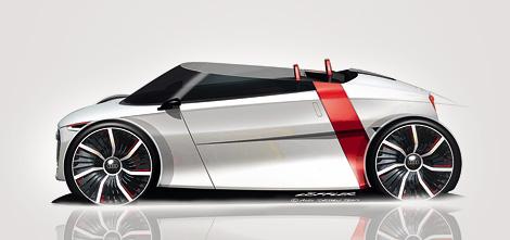 Компания Audi показала открытую версию концепта Urban