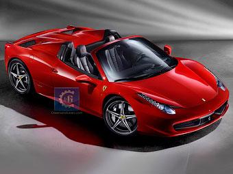 Появились фотографии суперкара Ferrari 458 Italia без крыши