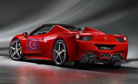 Опубликованы первые официальные фотографии открытой версии Ferrari 458 Italia