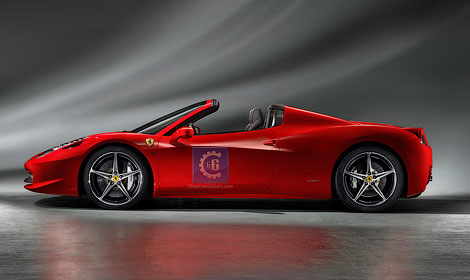 Опубликованы первые официальные фотографии открытой версии Ferrari 458 Italia. Фото 1