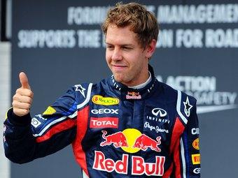 Себастьян Феттель выиграл дождевую квалификацию Формулы-1 в Бельгии