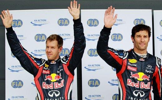 Гонщики Red Bull завоевали дубль на Гран-при Бельгии