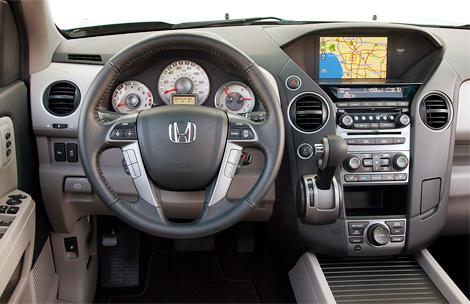 Компания Honda представила рестайлинговй внедорожник Pilot, который получил небольшие изменения в дизайне экстерьера и модернизированный салон. Фото 1