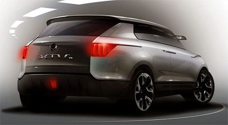 Компания SsangYong опубликовала новые изображения прототипа XIV-1
