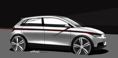 На автосалоне во Франкфурте компания Audi покажет городской электрокар длиной 3,8 метра