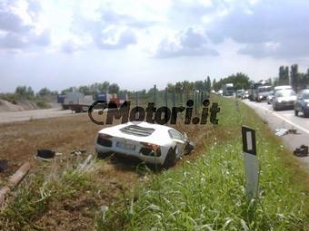 Первый Lamborghini Aventador разбили в Италии