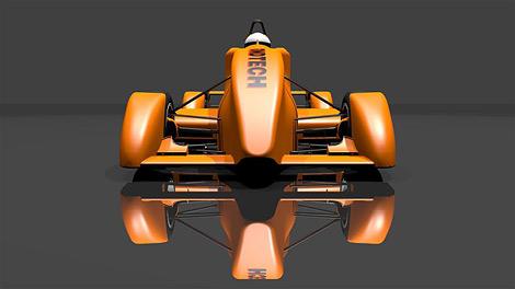 Фирма FondTech представила прототип электрического гоночного автомобиля