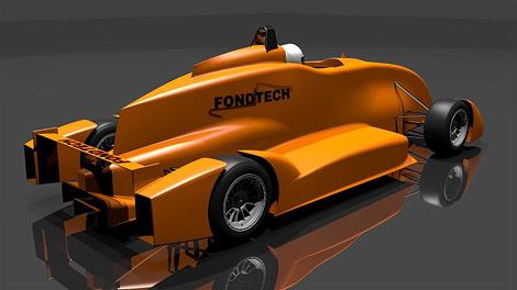 Фирма FondTech представила прототип электрического гоночного автомобиля. Фото 1