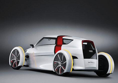 Концептуальный городской электрокар Audi Urban сможет проехать на одной зарядке 73 километра. Фото 1