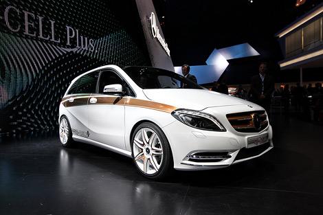 Во Франкфурте показали концептуальную электрическую модификацию нового Mercedes-Benz B-Class. Фото 1