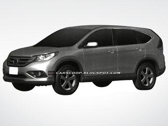 Появились первые изображения нового Honda CR-V