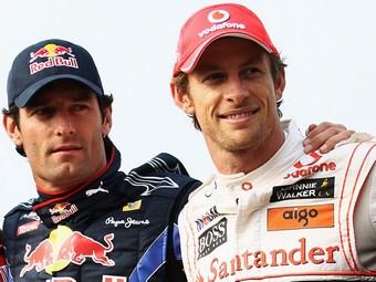Уэббер и Баттон опередили всех соперников на тренировке Гран-при Сингапура