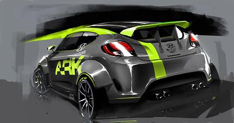 Hyundai и ателье ARK разработали тюнинговый вариант асимметричного хэтчбека Hyundai