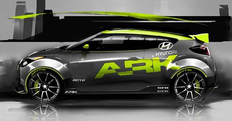 Hyundai и ателье ARK разработали тюнинговый вариант асимметричного хэтчбека Hyundai. Фото 1