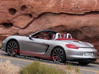 Новый Porsche Boxster S сфотографировали без камуфляжа