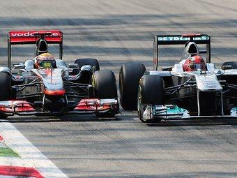 Хэмилтон обвинил Шумахера в опасном маневре