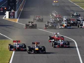 Феттель не увидел Баттона на старте Гран-при Японии