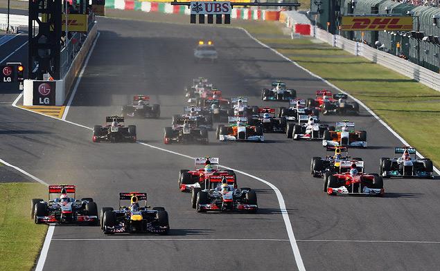 Для победы в чемпионате Феттелю хватило третьего места на Гран-при Японии. Фото 1