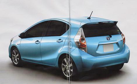 Появились изображения гибридного хэтчбека Toyota Prius C