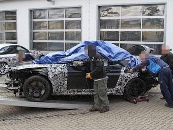 Прототип новой BMW M6 разбили на Нюрбургринге