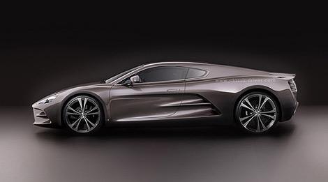 Компания HBH рассказала о среднемоторном суперкаре, построенном на базе переднемоторного Aston Martin V12 Vantage. Фото 1