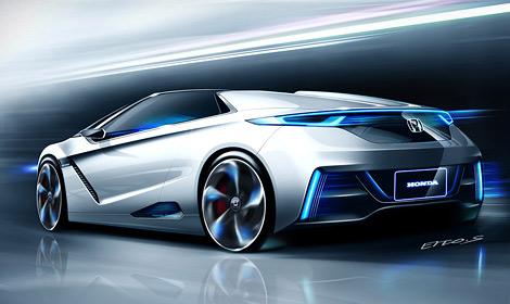 """""""Хонда"""" показала внешность спортивных электрических спорткаров будущего"""