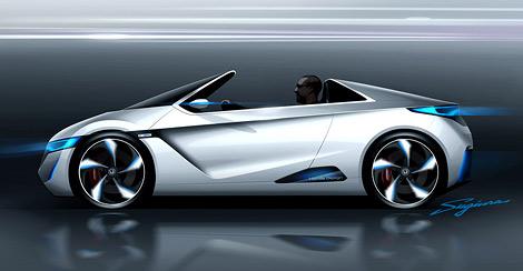 """""""Хонда"""" показала внешность спортивных электрических спорткаров будущего. Фото 1"""